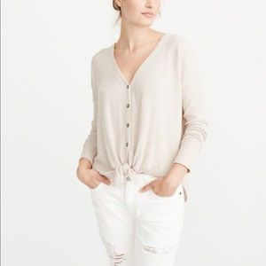 Abercrombie & Fitch tie front top